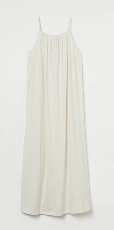 vit maxiklänning från H&M öppen rygg