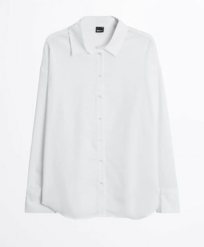 Vit oversized skjorta från Gina Tricot