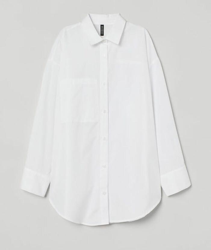Vit oversized skjorta från H&M