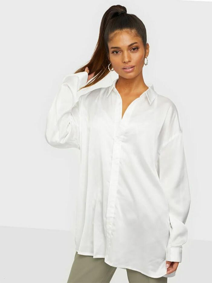 Vit oversized skjorta från Missguided