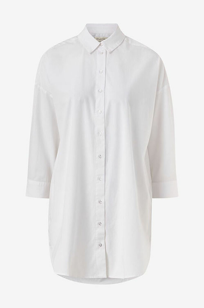 Vit oversized skjorta från Selcted Femme