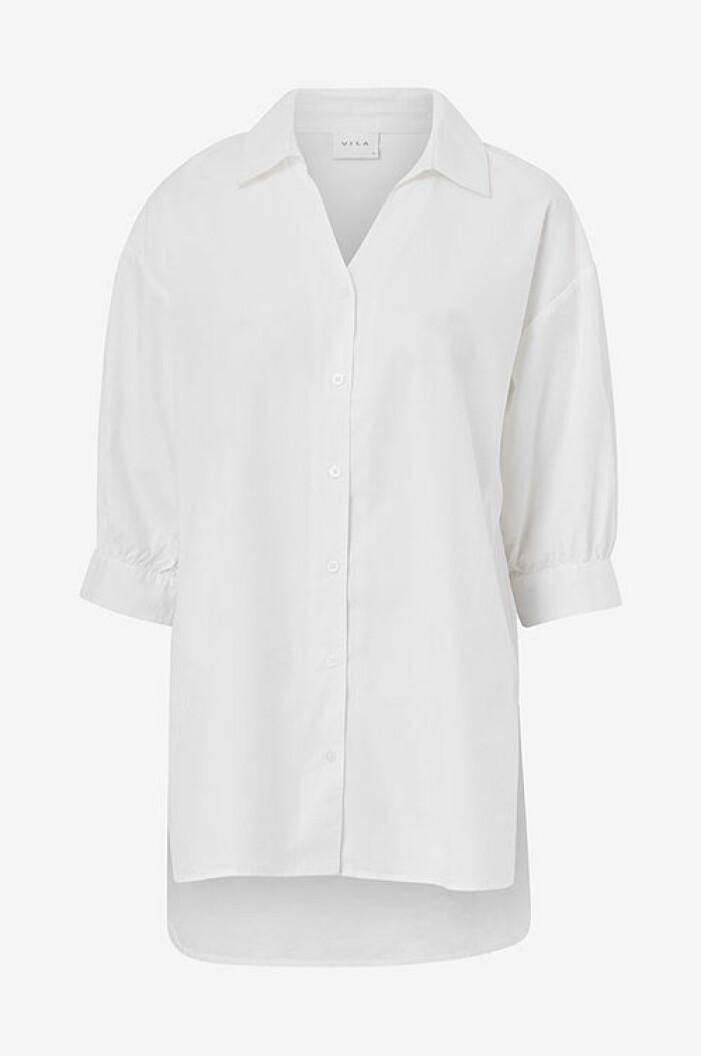 Vit oversized skjorta från Vila