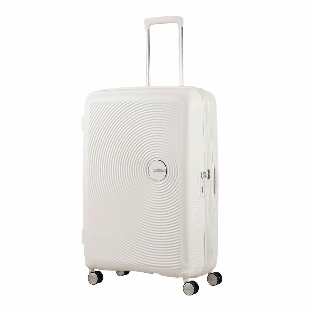 Vit resväska
