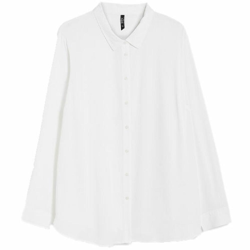 Vit skjorta i oversized modell