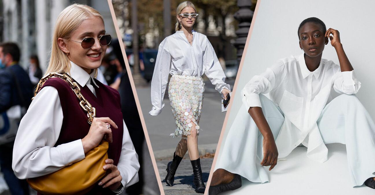 vit skjorta styling