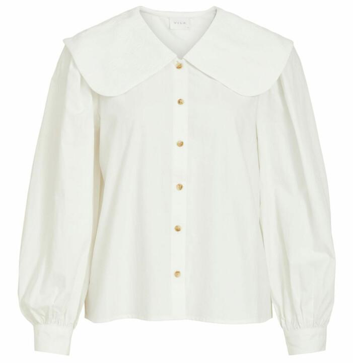 vit skjorta peter pan krage