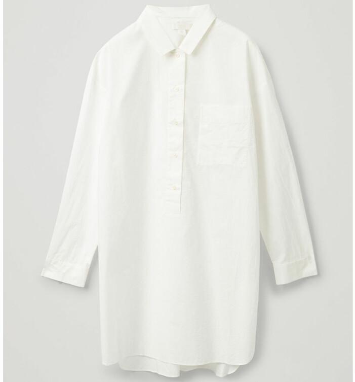 vit skjortklänning COS