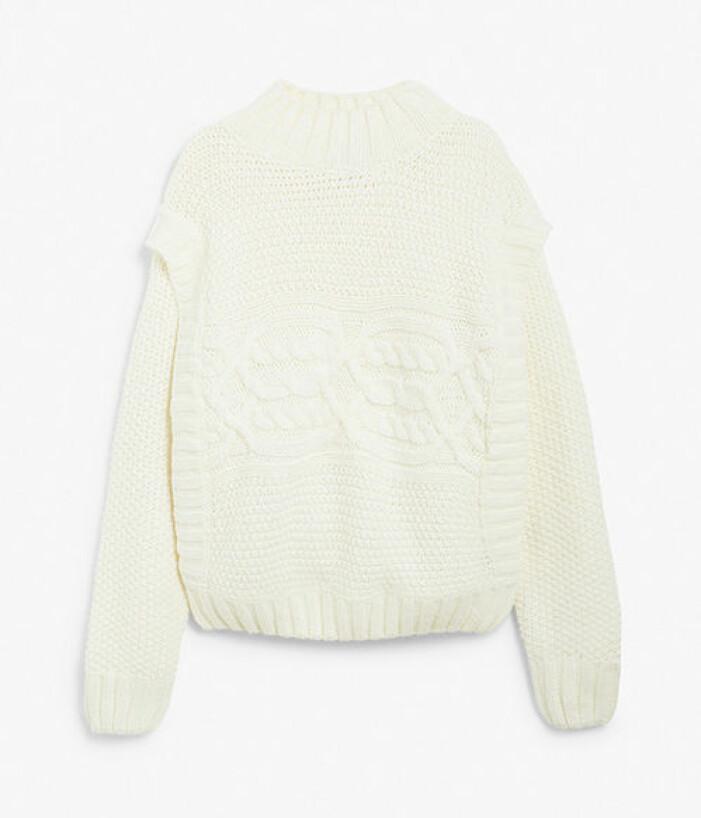 Vit stickad tröja från KappAhl