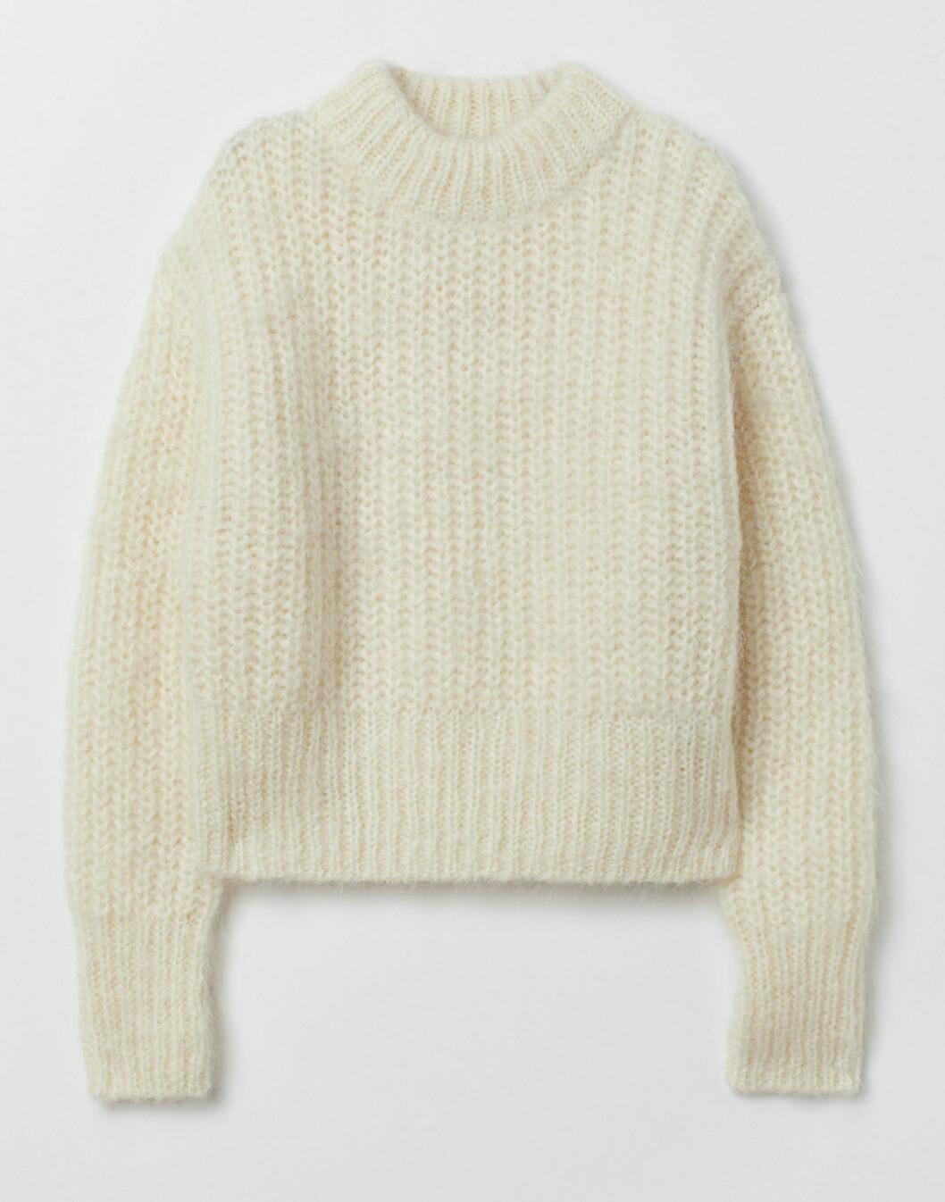 Vit stickad tröja från H&M