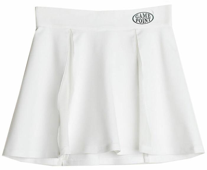 vit tenniskjol från gina tricot