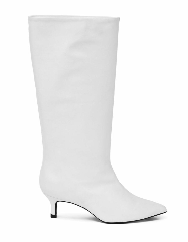 Vita knähöga boots