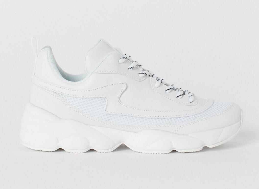 Vita chunky sneakers till våren 2019