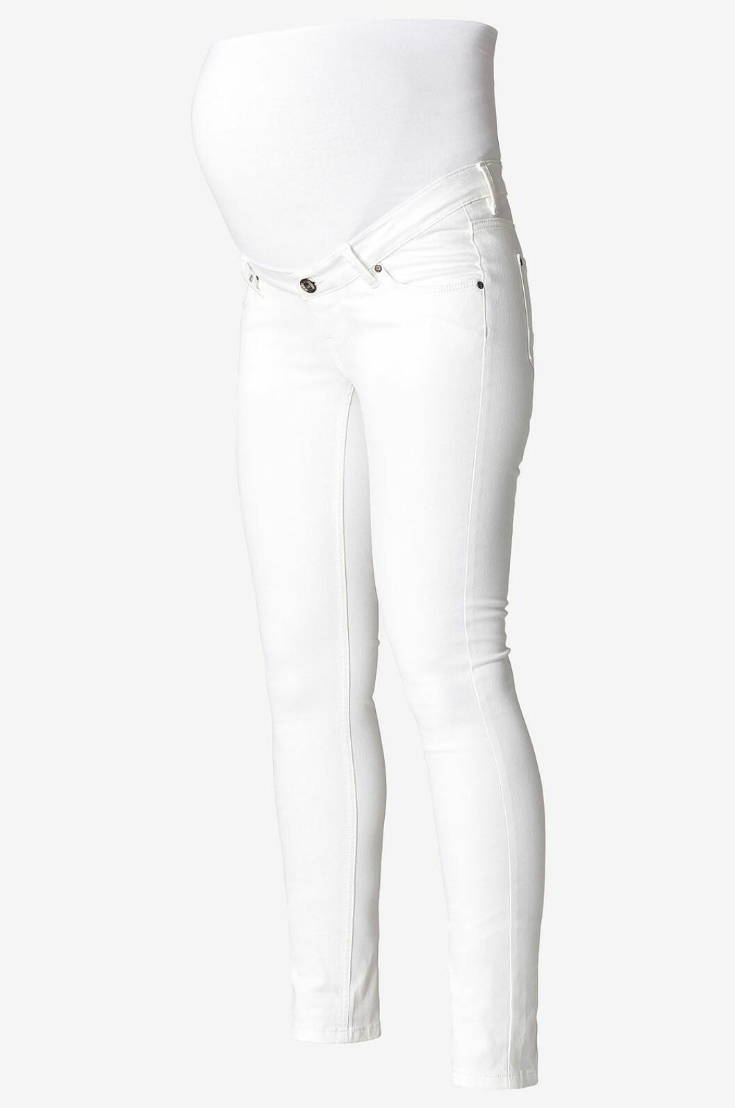 Vita gravidjeans med smala ben