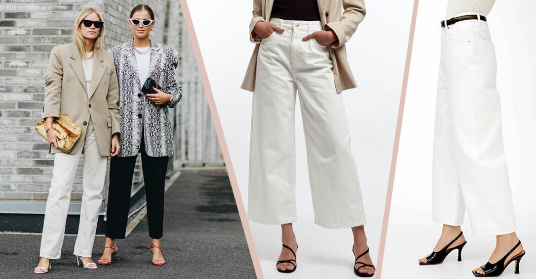 Vita jeans för dam till våren och sommaren 2020