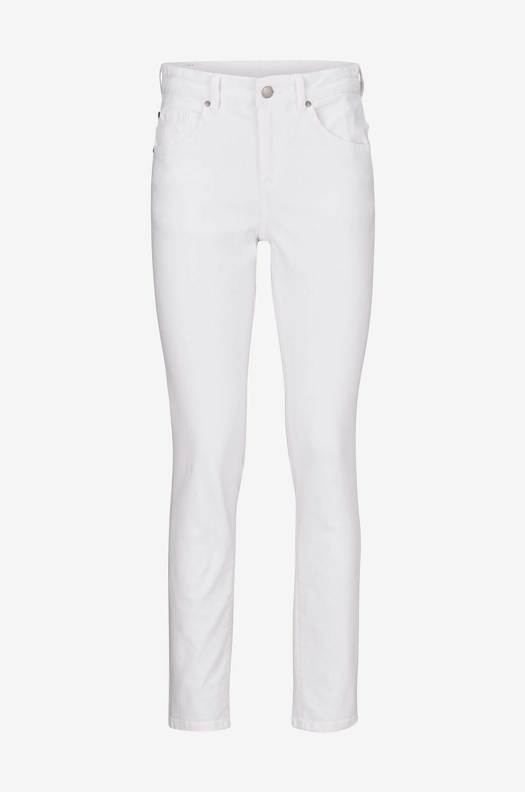 Vita jeans med hög midja till våren 2020