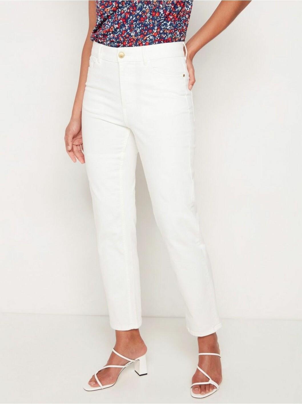 Vita jeans med hög midja till 2020