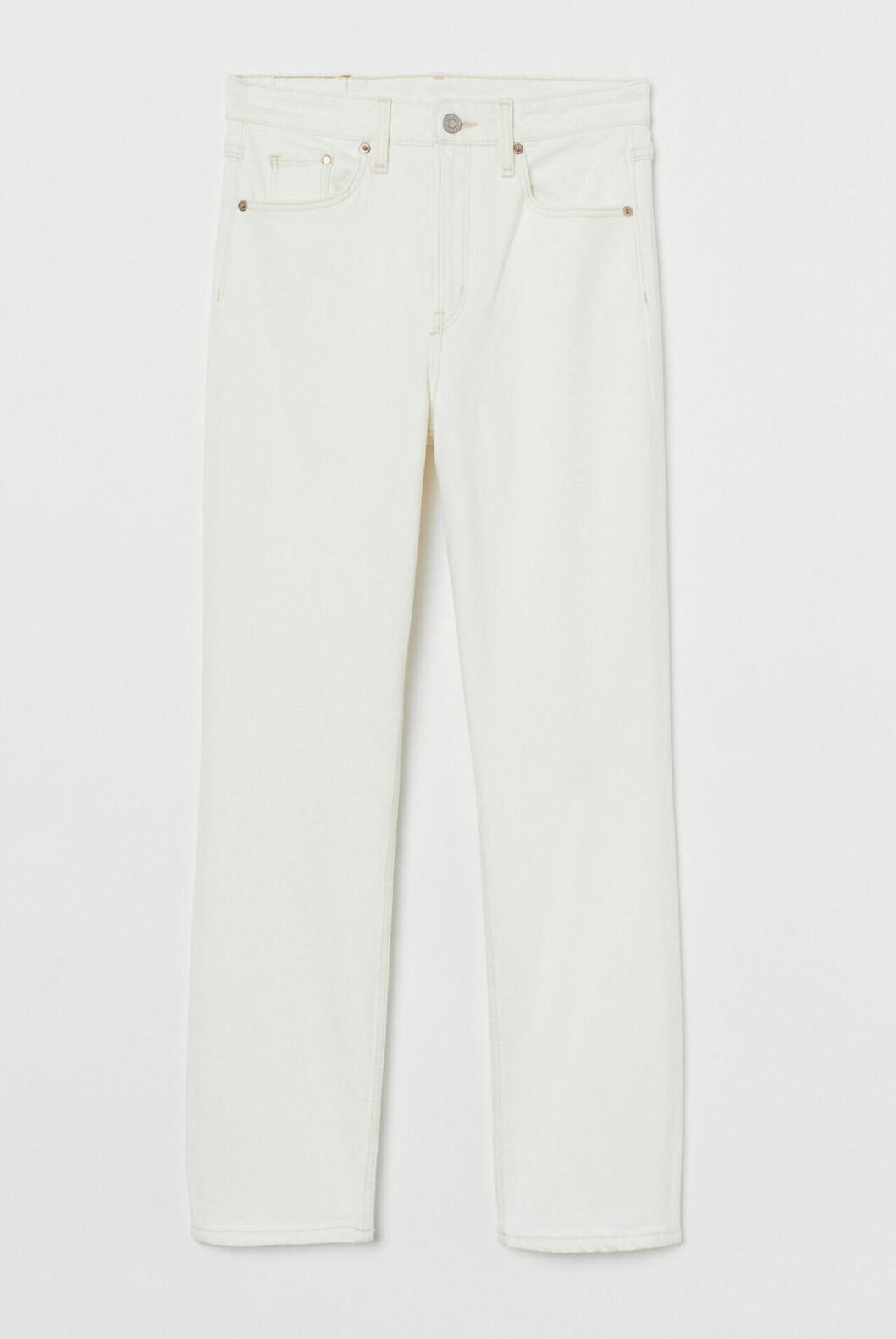 Vita jeans med smala ben för dam till våren 2020