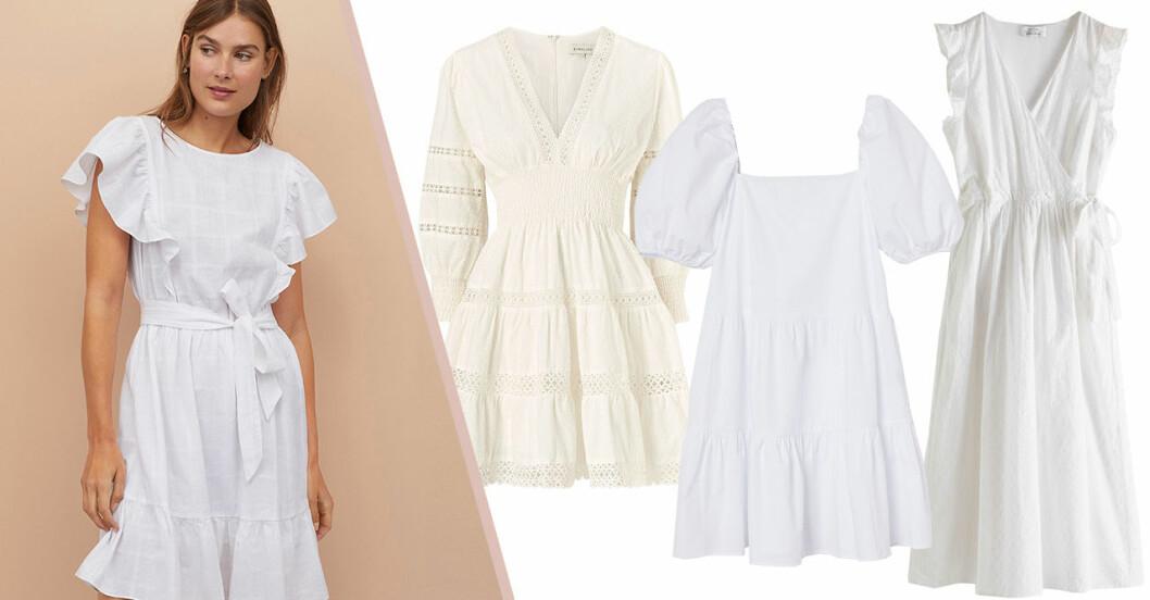 Vita klänningar för dam till sommaren 2020 – bästa köpen i butik