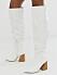 Vita knähöga boots för dam som är billiga