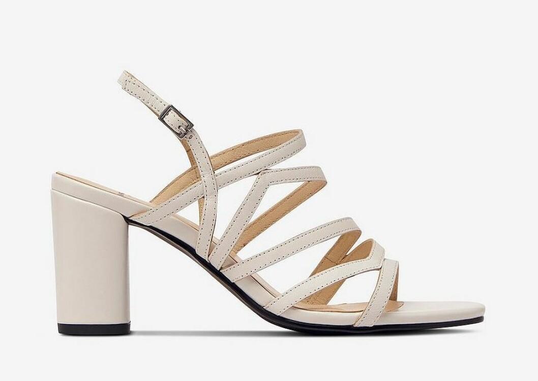 Vita sandaletter med tunna remmar för dam till 2020
