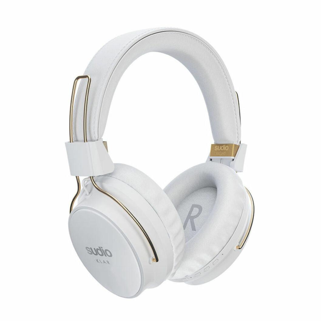 Vita trådlösa stora hörlurar från Sudio