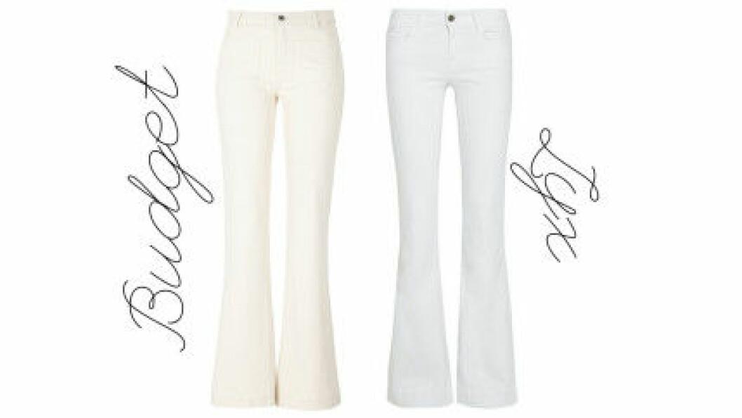 vita utsvängda jeans 2016
