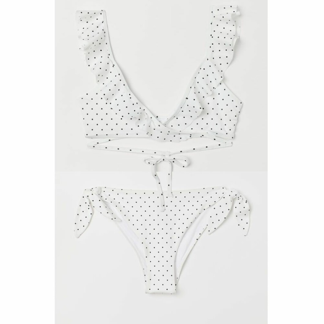 Vit prickig bikini