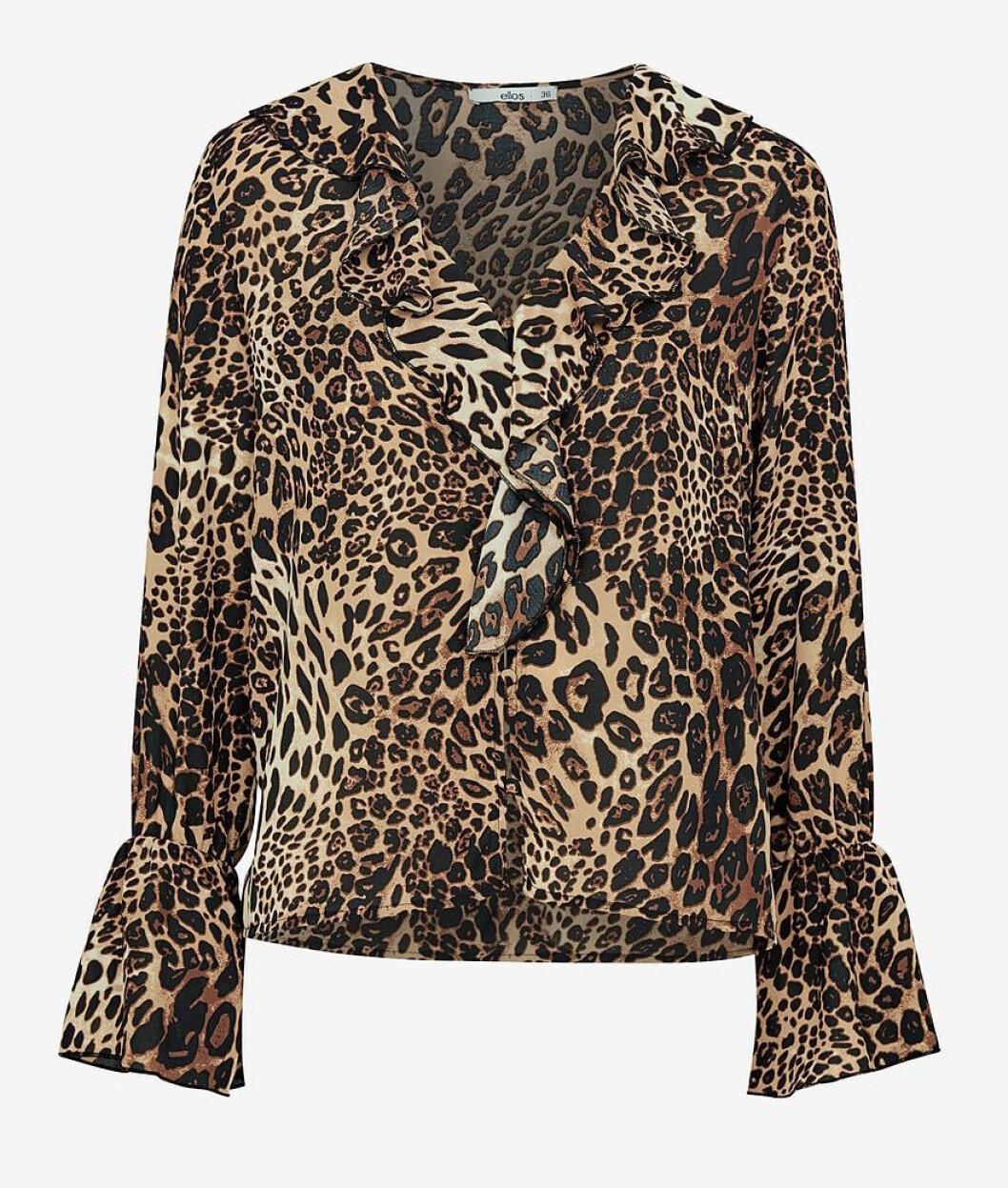 Leopardmönstrad blus