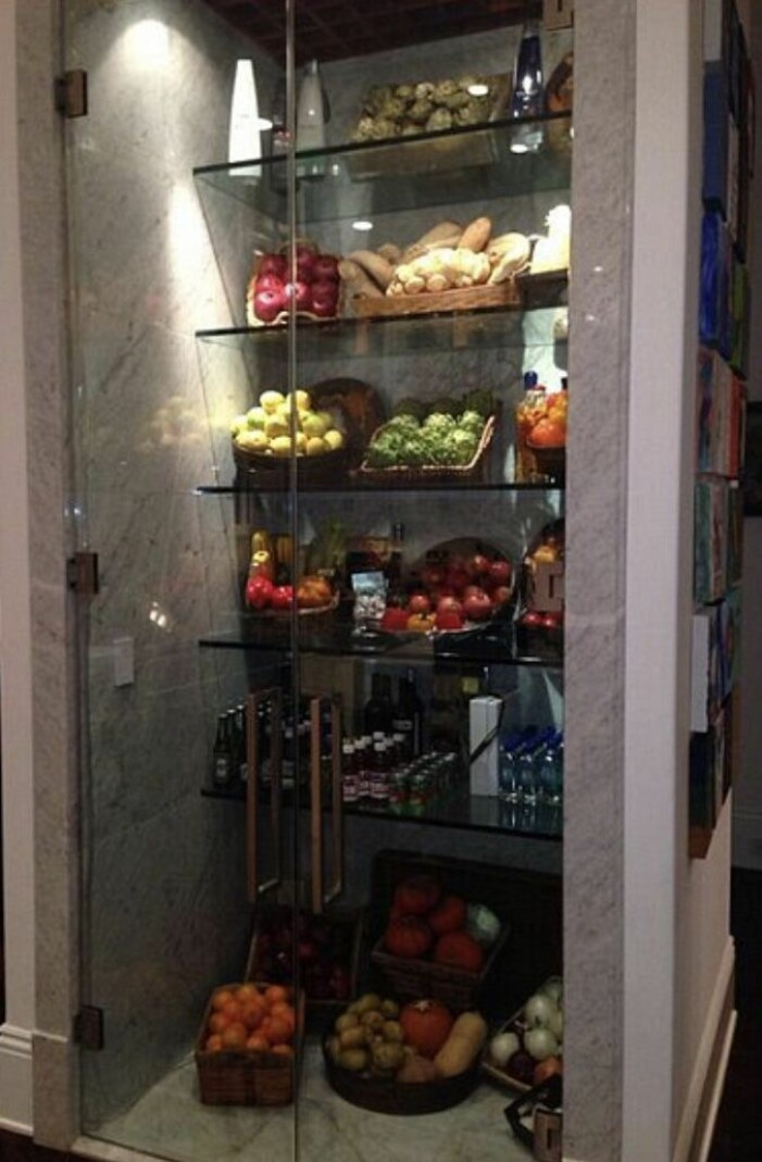 Yolanda Hadids kylskåp