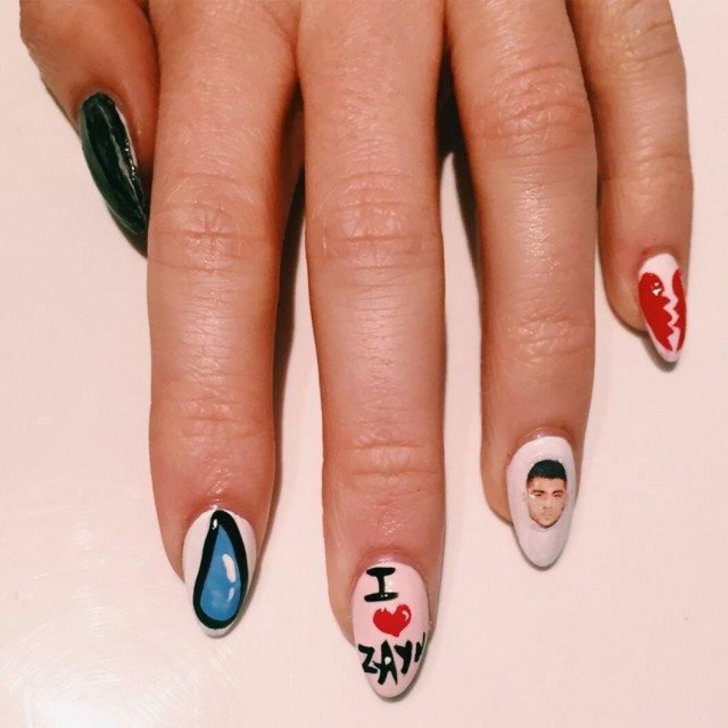 zayn one direction nail art