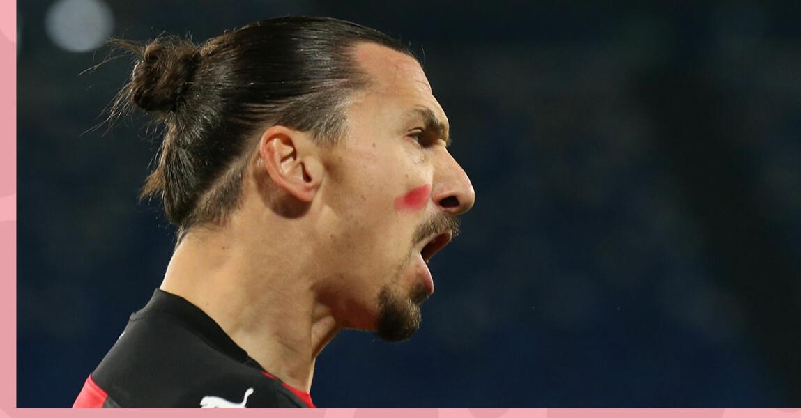 Därför spelade Zlatan med rött streck på kinden