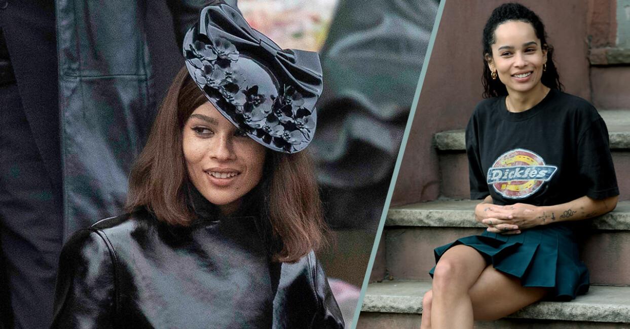 Första bilderna på Zoë Kravitz som Catwoman i nya The Batman filmen